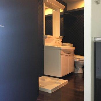 あけてみると水回りがスマートにおさまっている!ホテルライク。※写真は別室5階のものです。