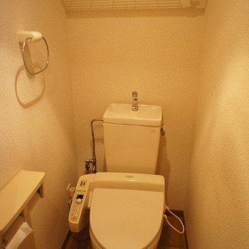 トイレ。※写真は同階反転間取り別部屋のものです