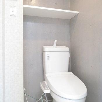 上の棚も活用できそう。※写真は4階の同間取り別部屋のものです