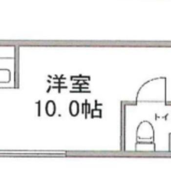 対面キッチンのあるワンルームです