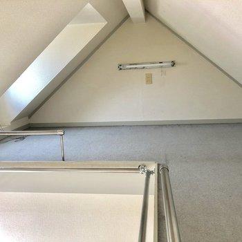 収納スペースとして使えそうなロフト。※写真は2階の同間取り別部屋のものです