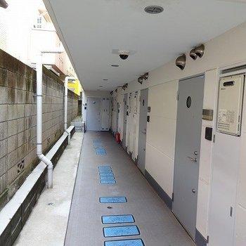 共用スペースは白ですっきり。※写真は同じ間取りの105号室のものです