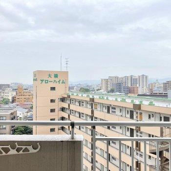 お隣のマンションの屋上が見えるほど高い...!