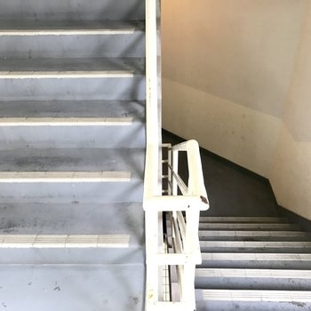階段を昇り降り〜