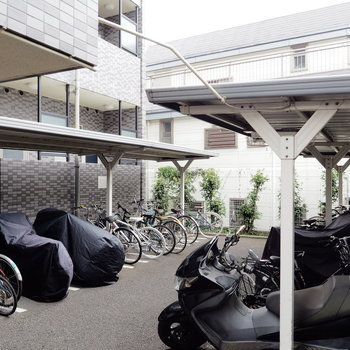 駐輪場もしっかり整頓されてます。