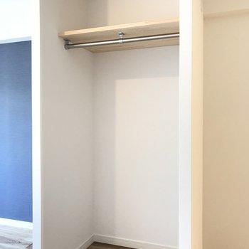 ひとり暮らしにちょうどいい大きさの収納※写真は同間取り別部屋です