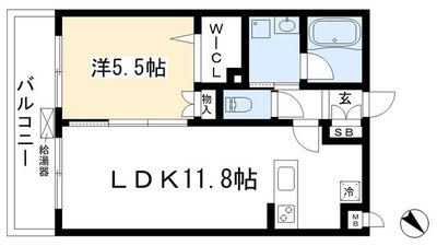 トサキパークコート西京極の間取り図
