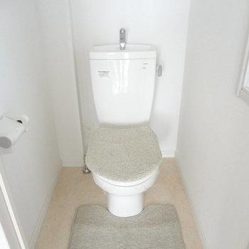 トイレもゆったりサイズ※写真は5階の反転間取り別部屋のものです