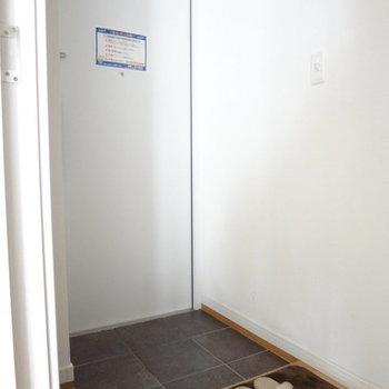 玄関は少し暗め。※写真は5階の反転間取り別部屋のものです