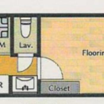 1人暮らし向け。角部屋なので、二面採光です◎
