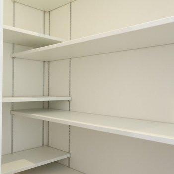 奥にもスペースがあり、大容量。※写真は別棟の同間取り別部屋のものです