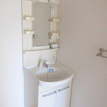 洗面台も使い勝手良さそうですよ。※写真は同じ間取り別部屋