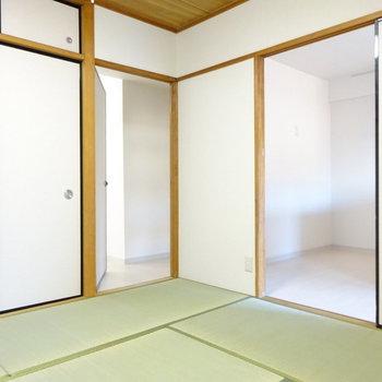 廊下とキッチンに繋がってます。