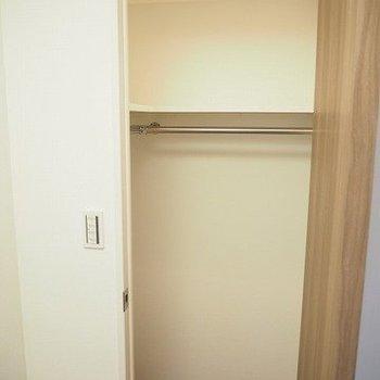ウォークインクローゼット!※写真は9階の同間取り別部屋のものです。