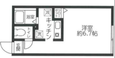 レジディア西新宿の間取り