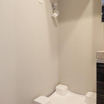 水回りに洗濯機置場※写真は5階の同間取り別部屋のものです