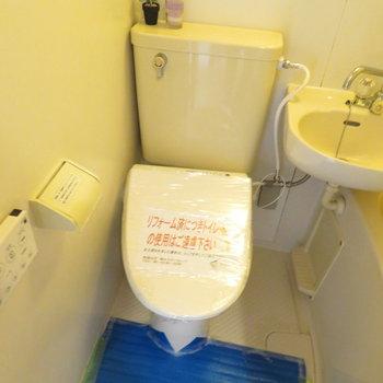 温水洗浄便座が付いてるのは珍しい