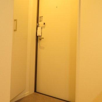 玄関はコンパクトかな