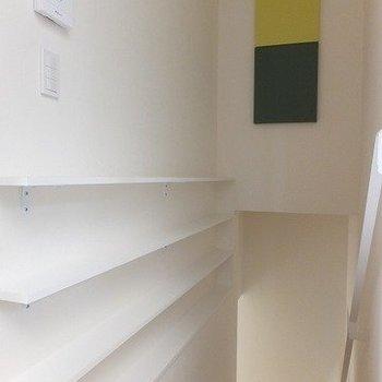 壁の緑と黄色がアクセントに。※写真は前回募集時のものです