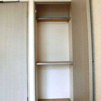 幅はあまりないですが、縦と奥行きがあります※写真は3階の同間取り別部屋のものです