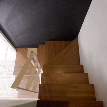 2階へ行きますよ。