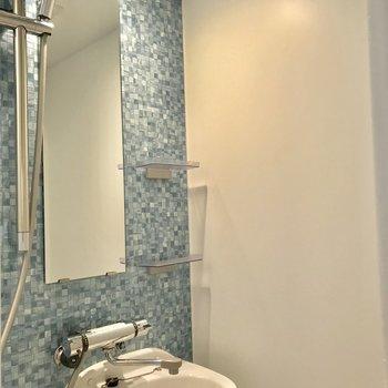 壁がかわいいシャワールーム