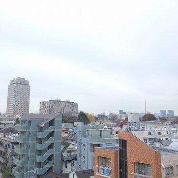 眺望いいぞ!!晴れてたらもっといいはず!※写真は8階の別部屋からの眺望です