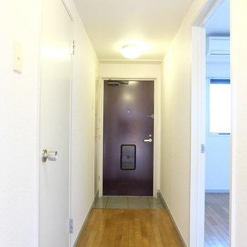 廊下にもなにか飾りましょう※写真は4階の同間取り別部屋のものです