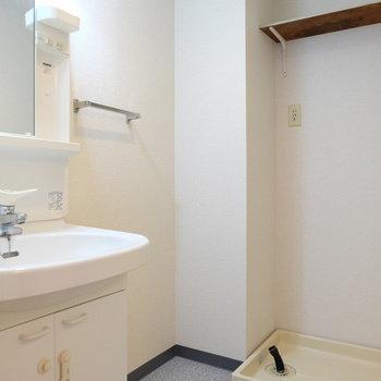 脱衣所もしっかり※写真は4階の同間取り別部屋のものです