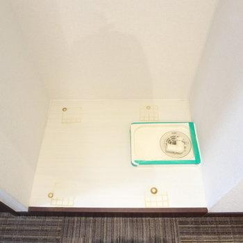 洗濯パンもありますよ。(※写真は13階の反転間取り別部屋のものです)