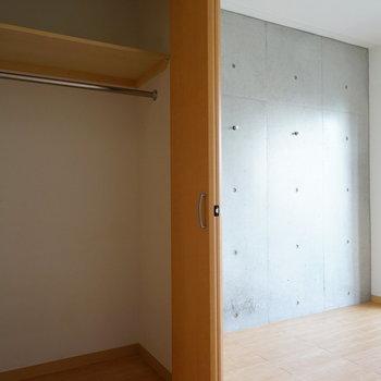 大きめのクローゼットです!※写真は4階の同間取り別部屋のものです