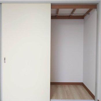 【南東側洋室】こちらの収納はたっぷり容量。