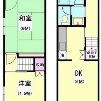 1階と2階に分けられています