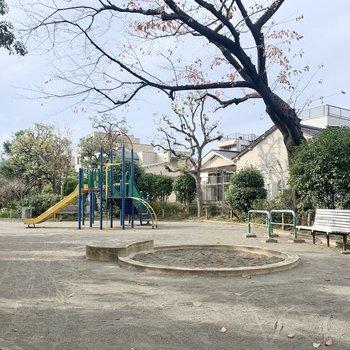 お部屋近くには公園があります