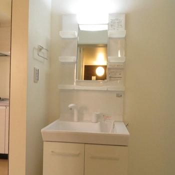 収納性の高い洗面台