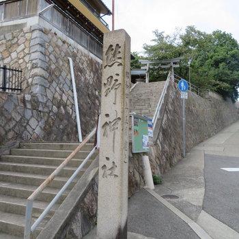 すぐ近くに歴史のありそうな神社がありました