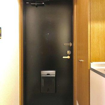 頑強そうなドアです。