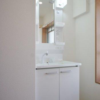 洗面所にも採光面が!※写真は同タイプの別室です。