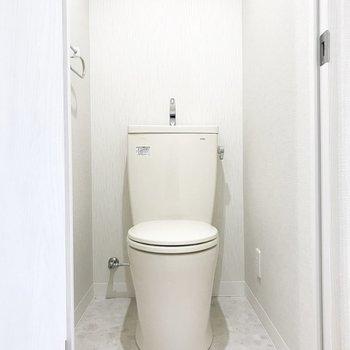 トイレも清潔感あり!