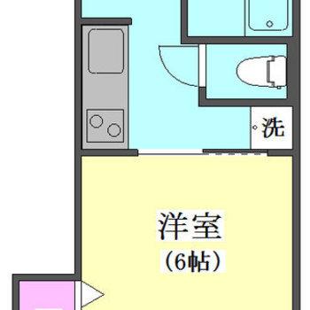 コンパクトなお部屋です