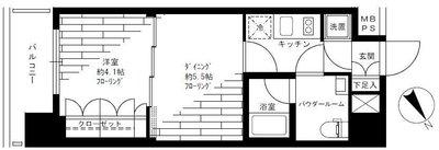 ラグジュアリーアパートメント横浜黄金町 の間取り
