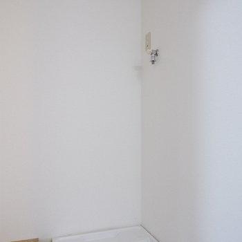 洗濯機置場も室内にありますよ。