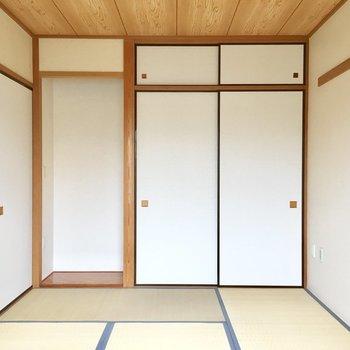 【和室】そして、この床の間のある風景。※写真は3階の同間取り別部屋ものです