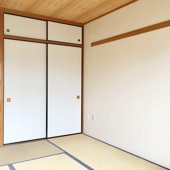 【和室】木の天井も、長押も、シンプルで素敵です。※写真は3階の同間取り別部屋ものです
