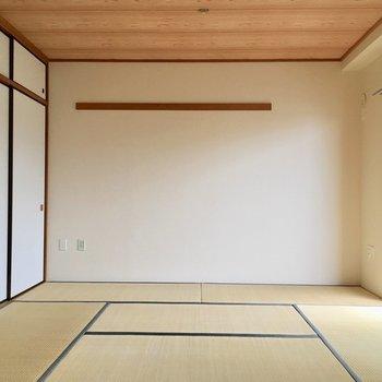 【和室】和室がお目見え〜※写真は3階の同間取り別部屋ものです