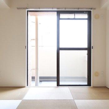和室はおしゃれな琉球畳だぁ♪