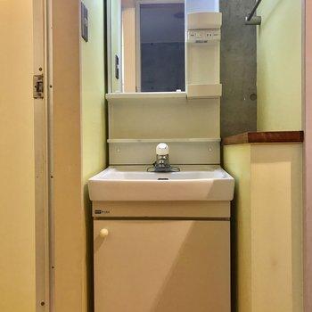 洗面台は下部収納もうまく利用できそうです。※写真は前回募集時のものです