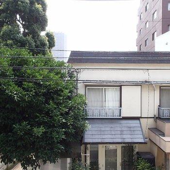 眺望はむかいの民家さんです。※写真は2階からの眺望のものです