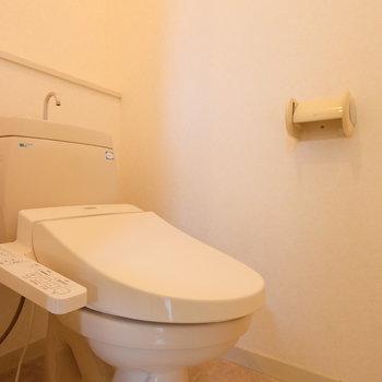 【工事前】トイレは既存利用ですがウォシュレット付きで綺麗です!