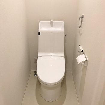 トイレも広め!※写真はクリーニング前